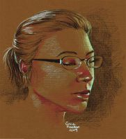 Self Portrait on Colored Paper by febbik