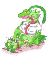 Tickle Torture Request: Scyther and Grovyle by KnightRayjack