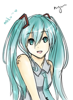 Hatsune Miku by YerBestFriend99