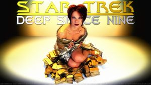 Chase Masterson Leeta and the Gold Pressed Latinum by Dave-Daring