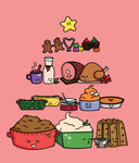 Christmas Food Pyramid by pengawenga
