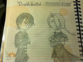 Death the Kid v.s. Edward Elric by snowcloud8