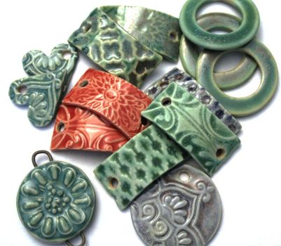 New Porcelain Pendants by ChinookDesigns
