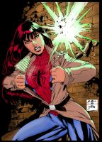 Mary Jane Penciling : Benes INK/Coloring: Me by jbellcomic