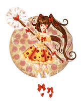 Fastfood Precure: Cure Pizza by Chancetodraw