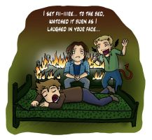 SPN SPOILERS: Set Fire to the Bed by blackbirdrose