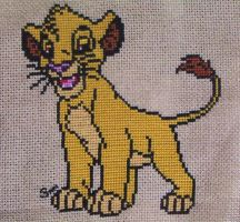 Simba cross stitch by Santian69