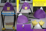 Drifloon Hat 8D by Pokemaniette013