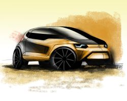 VW Fox concept render by Straxer