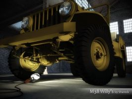 M38 Jeep Willis. Sketchup 3D by shareck