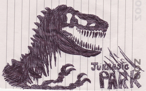 Jurrasic Park T-Rex Cover by closeyoureyes0329