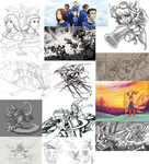Really Huge Doodle Dump! by RinTheYordle