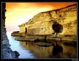 Rock,Sea And Sunset by fatihkilic