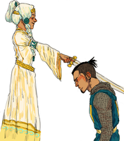 the knighting of sokka by Cabout