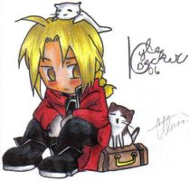 -Edward and KITTIES- by Corky-Lunn