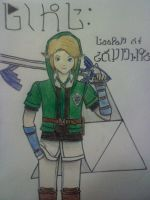 Link: Keeper of Courage! KH and LoZ Crossover by Coremean
