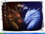 Desktop: Dragons by SylvieNe