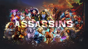 SMITE - Assassins Wallpaper (Awilix Edition) by Getsukeii