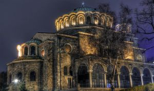 St Nedelya Church at Night by Pipera