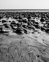 Dark Beach Rocks by JoseAvilaPhotography