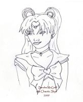 Sailor Moon LineArt by ChaoticSkye