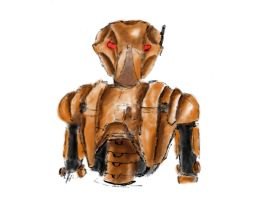 HK-47 colored by Daniela-Chris