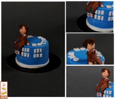 Doctor Who Paint Cakes by Paintcakes