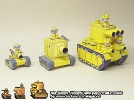 papercraft Advance Wars tanks by ninjatoespapercraft
