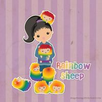 Rainbow Sheep by danger0usangel03