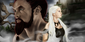 Drogo and Dany by SynthesizedConiine