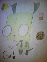 Gir thinking of his fav foods by Angelgirl10