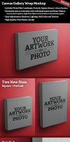 Canvas Gallery Wrap Mockup by SingleHandedStudio