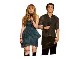Nathan Kress Y Jannette McCurdy PNG by YoyitaEditions