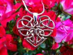 Heart Celtic Knot Necklace by dfoley75