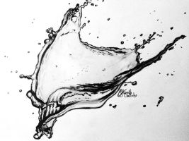 water splash by GabrielleC-Drawings
