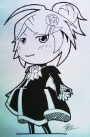 Ink Comm - Chibi Vocaloid? by FontesMakua