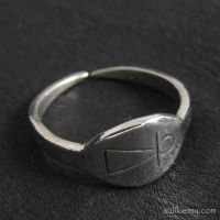 Silver Phoenician Tanit goddess ring by Sulislaw