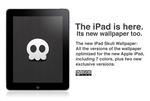 Skull wallpaper for iPad by LordZoltan