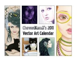 2011 Vector Art Calendar by ChewedKandi