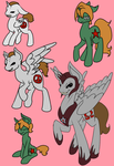 Gorger Pony Doodles by Saccharine-Cyanide