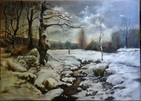 Winter forest by Laurael