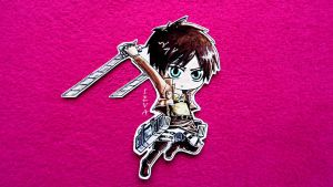 Eren Jaeger Chibi ~ by ievawwww