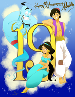 19th Anniversary of Aladdin by wool100ee