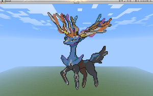Minecraft Pixel - Xerneas by Gem-A-Knight