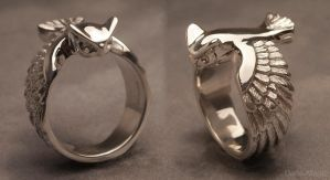 Great horned owl ring by Dans-Magic