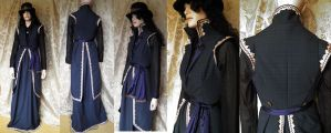 Steampunk-Victorian inspired tailcoat set by JanuaryGuest