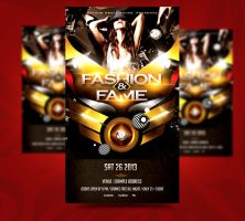 Fashion and Fame Party Flyer by satgur