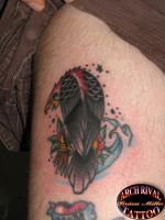 traditional eagle finished by theothertattooguy