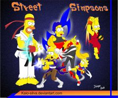 Street Simpsons by Kaio-Silva