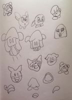 More Kirby Doodles by creecreehoneybees